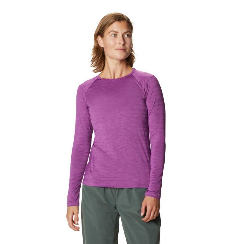Mighty Stripe™ Long Sleeve T | 547 | M Women's Mighty Stripe™ Long Sleeve T-Shirt, Acai, front
