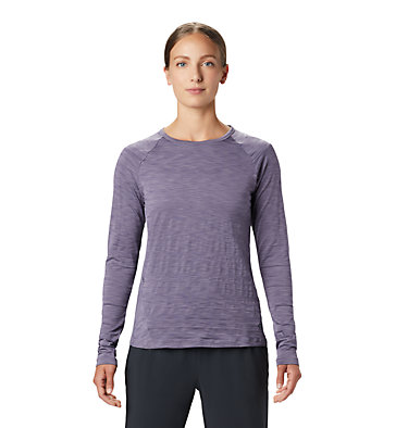 Women's Mighty Stripe™ Long Sleeve T-Shirt Mighty Stripe™ Long Sleeve T | 102 | L, Dusted Sky, front