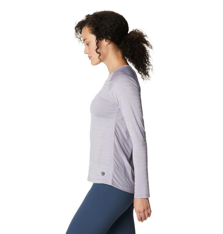 Mighty Stripe™ Long Sleeve T | 558 | M Women's Mighty Stripe™ Long Sleeve T-Shirt, Frost Grey, a1