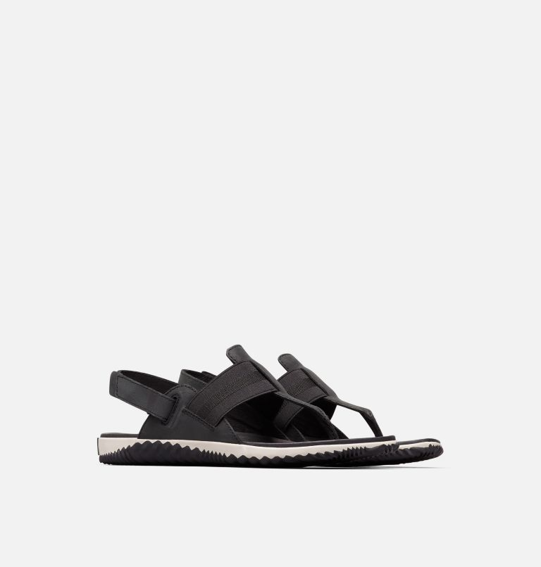 OUT N ABOUT™ PLUS SANDAL | 010 | 9 Sandalia Out 'N About™ Plus para mujer, Black, 3/4 front
