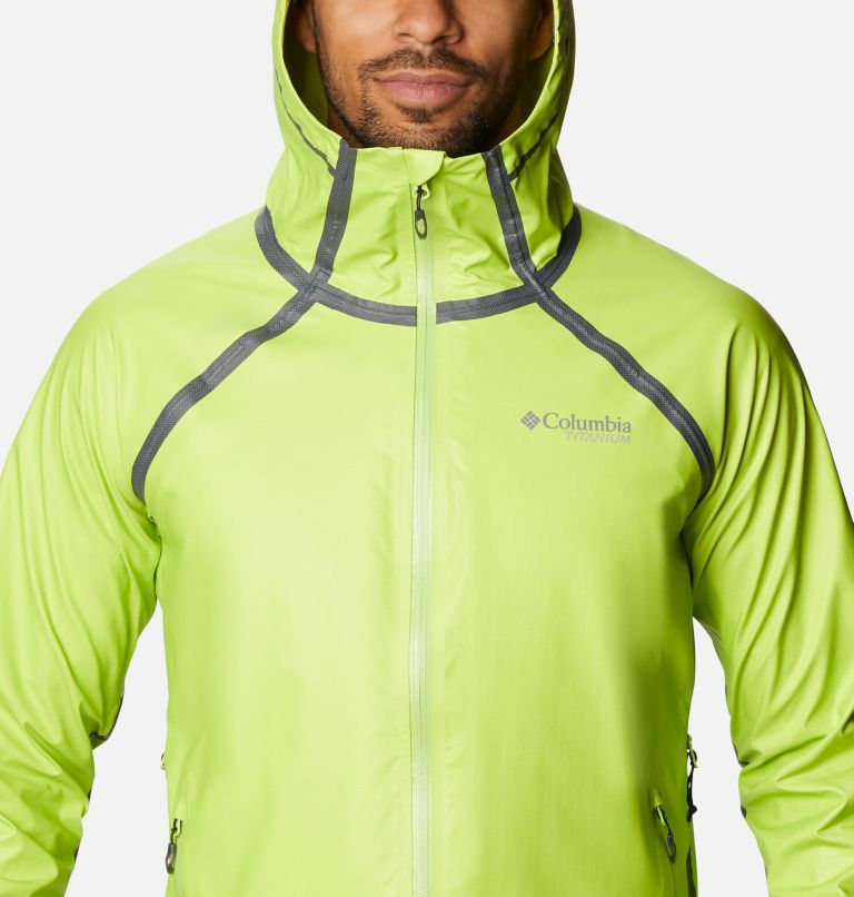 OutDry Ex™ Reign™ Jacket | 386 | M Men's OutDry™ Ex Reign Jacket, Bright Chartreuse Heather, a2