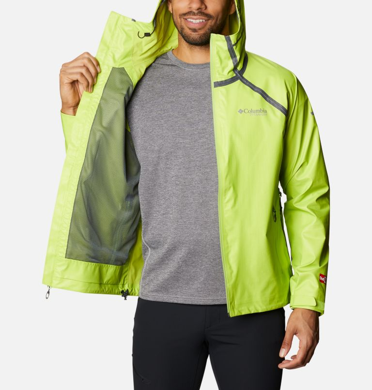 OutDry Ex™ Reign™ Jacket | 386 | M Men's OutDry™ Ex Reign Jacket, Bright Chartreuse Heather, a3