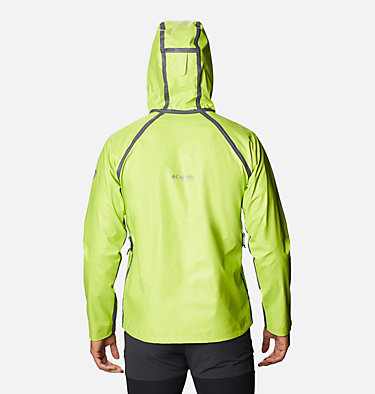 Men's OutDry™ Ex Reign Jacket OutDry Ex™ Reign™ Jacket | 386 | S, Bright Chartreuse Heather, back