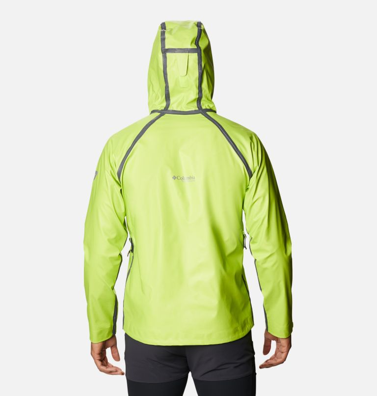 OutDry Ex™ Reign™ Jacket | 386 | M Men's OutDry™ Ex Reign Jacket, Bright Chartreuse Heather, back