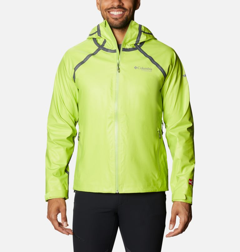 OutDry Ex™ Reign™ Jacket | 386 | M Men's OutDry™ Ex Reign Jacket, Bright Chartreuse Heather, front