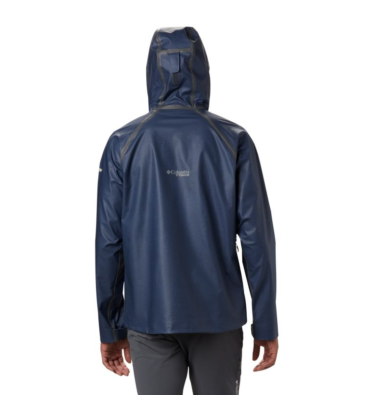OutDry Ex™ Reign™ Jacket | 464 | XL Men's OutDry™ Ex Reign Jacket, Collegiate Navy Heather, back