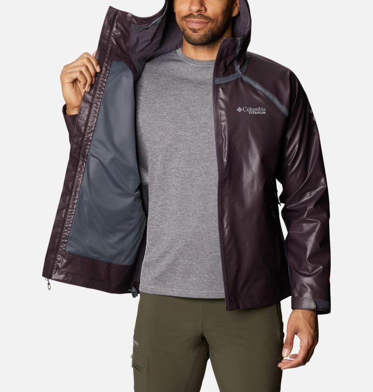 OutDry Ex™ Reign™ Jacket | 511 | XL Men's OutDry™ Ex Reign Jacket, Dark Purple Heather, a3
