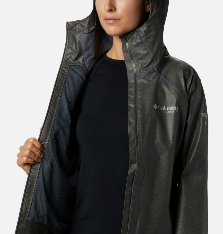 OutDry Ex™ Reign™ Jacket | 030 | S Women's OutDry Ex™ Reign™ Jacket, Charcoal Heather, a3