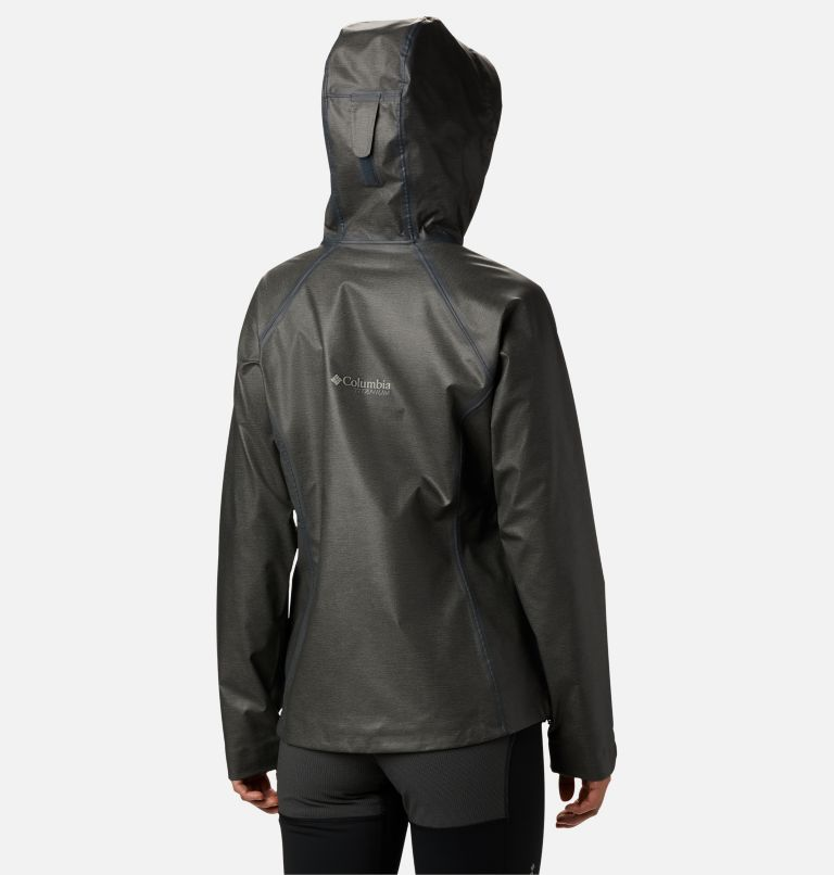 OutDry Ex™ Reign™ Jacket | 030 | S Women's OutDry Ex™ Reign™ Jacket, Charcoal Heather, back