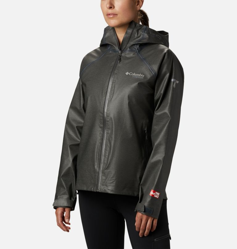 OutDry Ex™ Reign™ Jacket | 030 | S Women's OutDry Ex™ Reign™ Jacket, Charcoal Heather, front