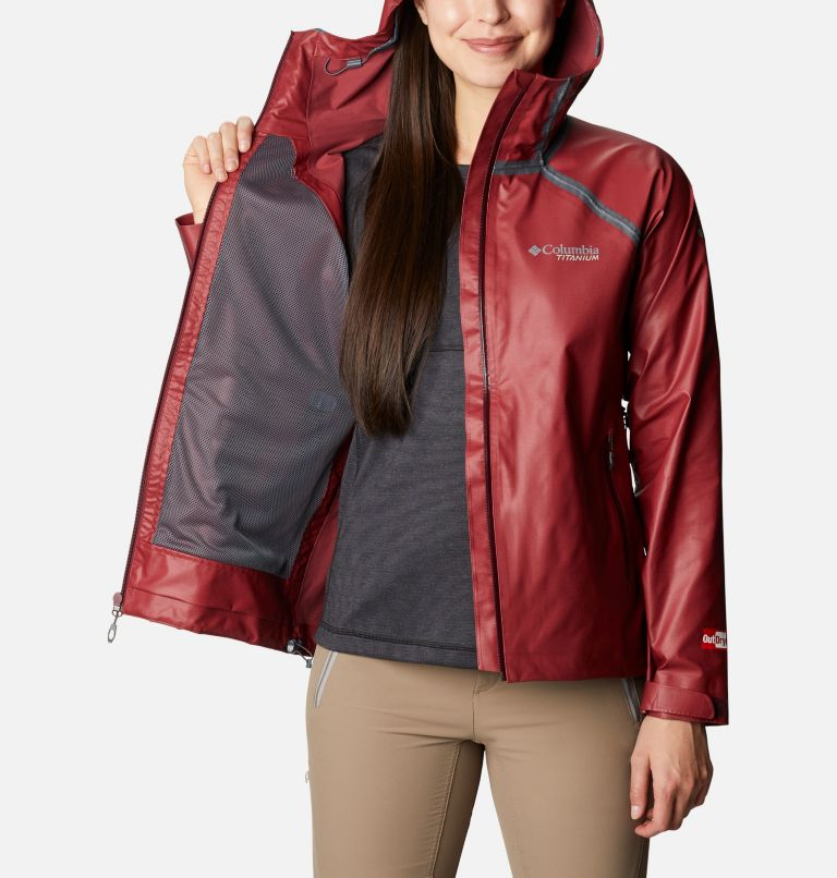 OutDry Ex™ Reign™ Jacket | 671 | XS Women's OutDry Ex™ Reign™ Jacket, Malbec Heather, a3