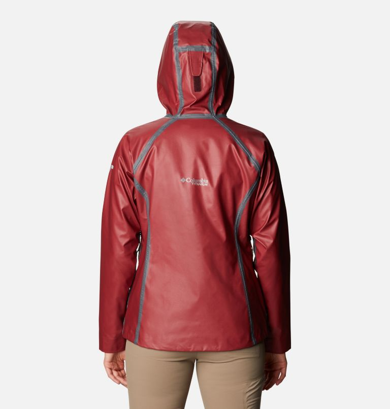 OutDry Ex™ Reign™ Jacket | 671 | XS Women's OutDry Ex™ Reign™ Jacket, Malbec Heather, back