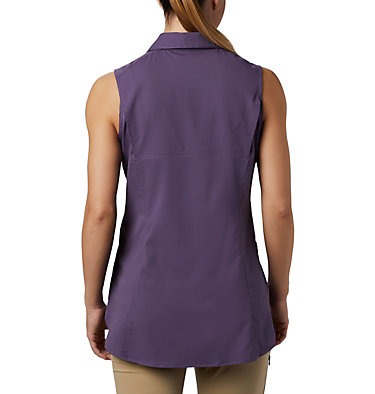 Women's Silver Ridge™ Lite Sleeveless Shirt Silver Ridge™ Lite Sleeveless | 544 | M, Plum Purple, back