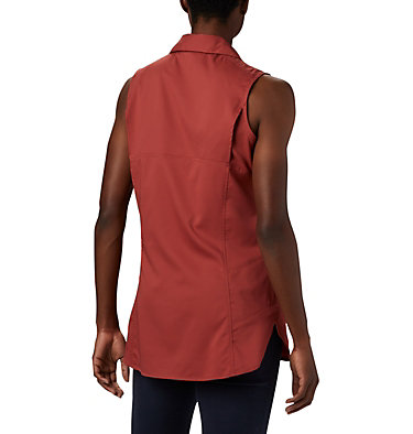 Women's Silver Ridge™ Lite Sleeveless Shirt Silver Ridge™ Lite Sleeveless | 544 | M, Dusty Crimson, back