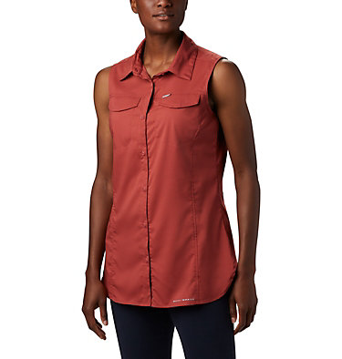 Women's Silver Ridge™ Lite Sleeveless Shirt Silver Ridge™ Lite Sleeveless | 544 | M, Dusty Crimson, front