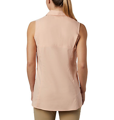 Women's Silver Ridge™ Lite Sleeveless Shirt Silver Ridge™ Lite Sleeveless | 490 | M, Peach Cloud, back