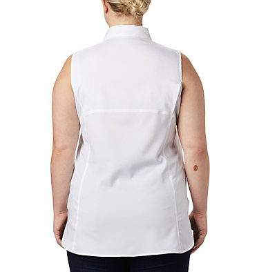 Chemise sans manches Silver Ridge™ Lite pour femme — Grandes tailles Silver Ridge™ Lite Sleeveless | 544 | 1X, White, back