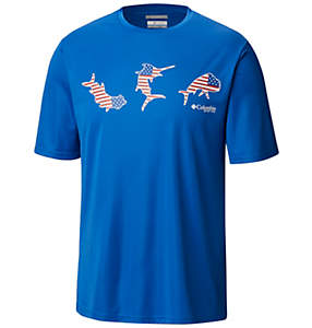 Men's PFG Terminal Tackle™ Tri-Fish™ Short Sleeve Shirt