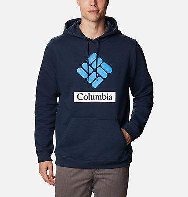 Men's Mount Mitchell™ Hoodie Mount Mitchell™ Hoodie | 473 | L, Collegiate Navy Stacked Gem Columbia, front