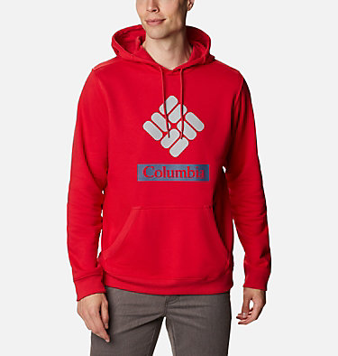 Men's Mount Mitchell™ Hoodie Mount Mitchell™ Hoodie | 473 | L, Mountain Red Stacked Gem Columbia, front