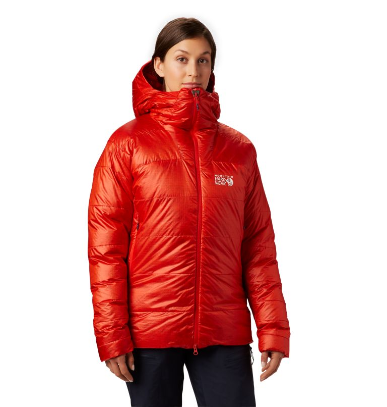 Phantom™ Parka | 636 | S Women's Phantom™ Down Hooded Parka, Fiery Red, front