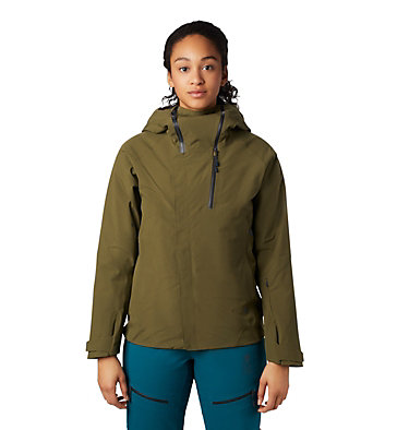 Women's Cloud Bank™ Gore-Tex® Insulated Jacket Cloud Bank™ Gore-Tex® Insulate | 353 | XS, Combat Green, front