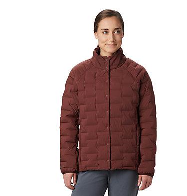 Women's Super/DS™ Stretchdown Shacket Super D/S™ Shirt Jacket | 012 | L, Dark Umber, front