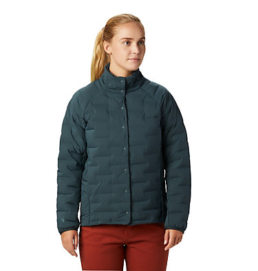 Women's Super/DS™ Stretchdown Shacket Super D/S™ Shirt Jacket | 012 | L, Blue Spruce, front
