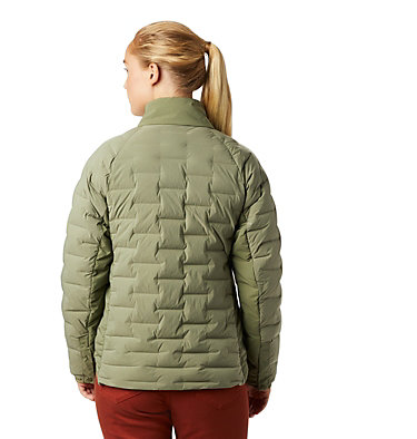 Women's Super/DS™ Stretchdown Shacket Super D/S™ Shirt Jacket | 012 | L, Light Army, back