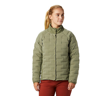 Women's Super/DS™ Stretchdown Shacket Super D/S™ Shirt Jacket | 012 | L, Light Army, front