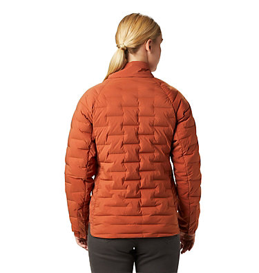 Women's Super/DS™ Stretchdown Shacket Super D/S™ Shirt Jacket | 012 | L, Rusted, back