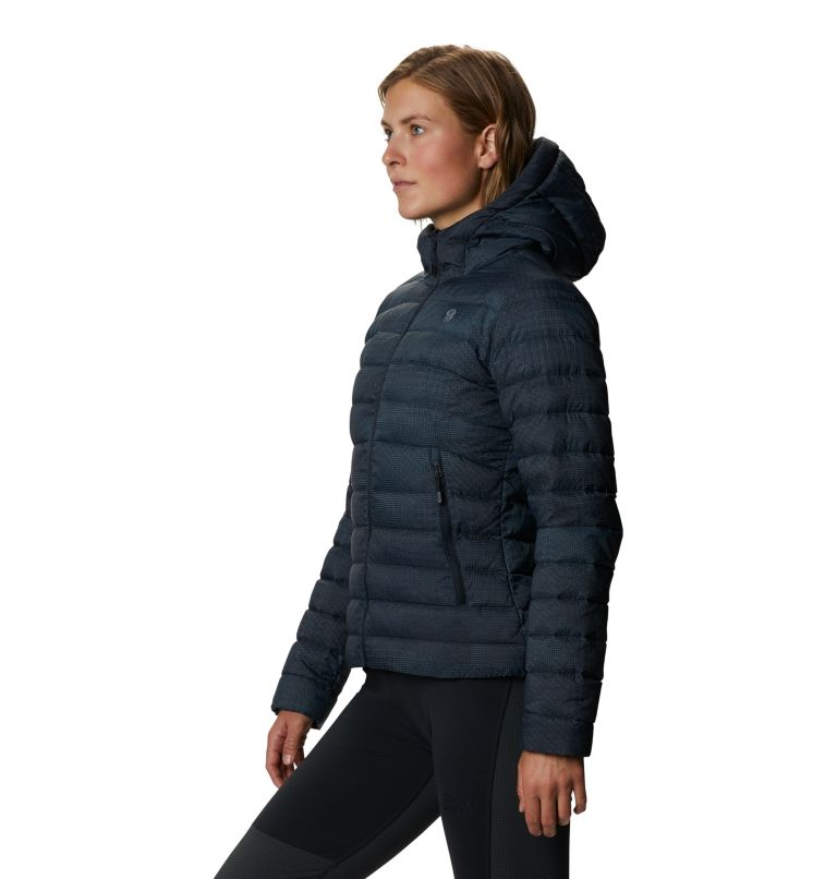 Rhea Ridge™ Hoody | 008 | XS Women's Rhea Ridge/2™ Down Full Zip Hoody, Dark Storm Woven Print, a1