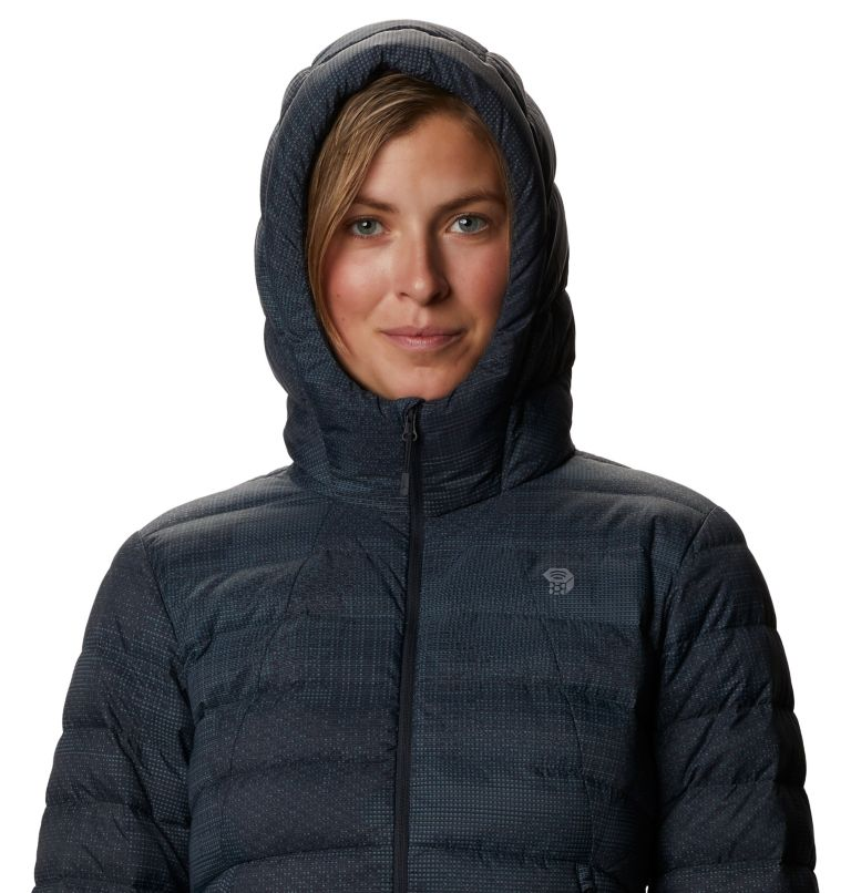 Rhea Ridge™ Hoody | 008 | XS Women's Rhea Ridge/2™ Down Full Zip Hoody, Dark Storm Woven Print, a2