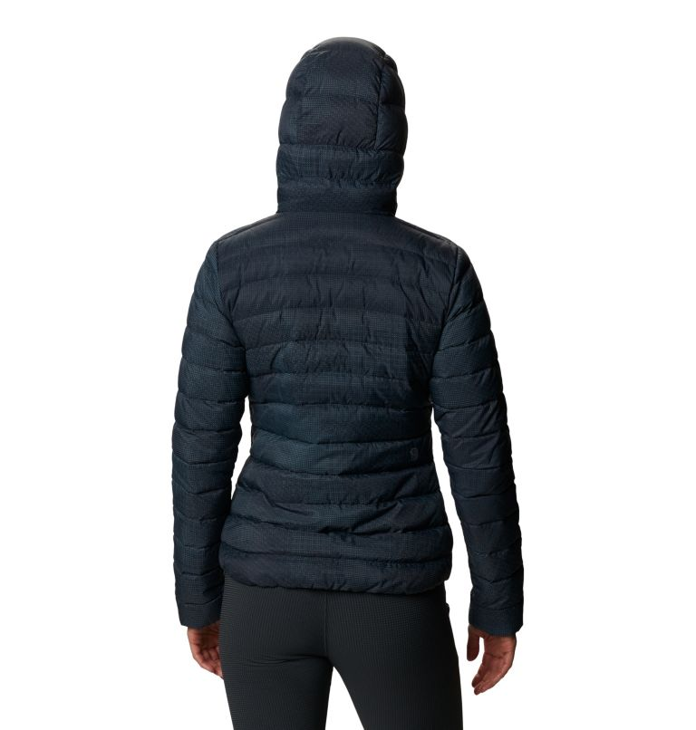 Rhea Ridge™ Hoody | 008 | XS Women's Rhea Ridge/2™ Down Full Zip Hoody, Dark Storm Woven Print, back