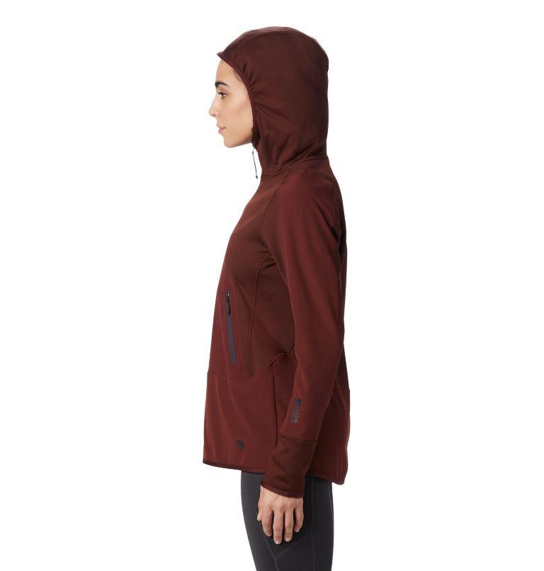 Frostzone™ Hybrid 1/2 Zip Hood | 259 | XS Women's Frostzone™ Hybrid 1/2 Zip Hoody, Dark Umber, a2