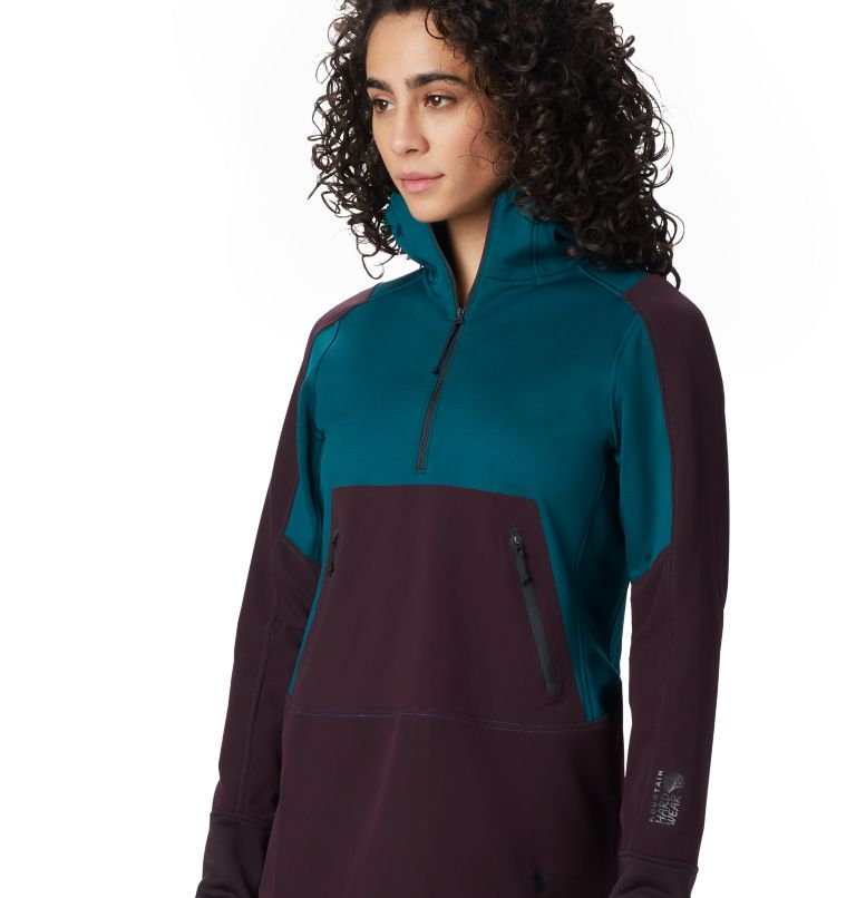 Frostzone™ Hybrid 1/2 Zip Hood | 468 | M Women's Frostzone™ Hybrid 1/2 Zip Hoody, Dive, a1