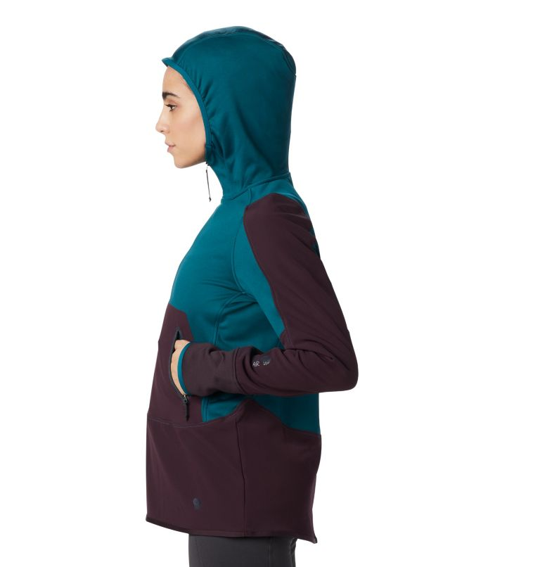 Frostzone™ Hybrid 1/2 Zip Hood | 468 | M Women's Frostzone™ Hybrid 1/2 Zip Hoody, Dive, a2