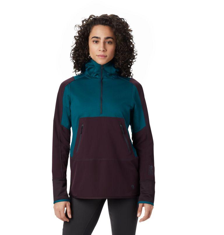Frostzone™ Hybrid 1/2 Zip Hood | 468 | M Women's Frostzone™ Hybrid 1/2 Zip Hoody, Dive, front