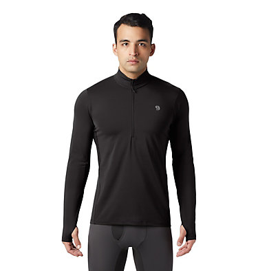 Men's Ghee™ Long Sleeve 1/2 Zip Ghee™ Long Sleeve 1/2 Zip | 305 | L, Black, front