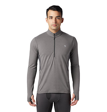 Men's Ghee™ Long Sleeve 1/2 Zip Ghee™ Long Sleeve 1/2 Zip | 305 | L, Heather Shark, front