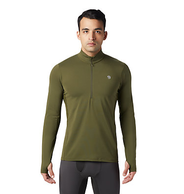 Men's Ghee™ Long Sleeve 1/2 Zip Ghee™ Long Sleeve 1/2 Zip | 305 | L, Dark Army, front