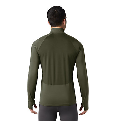 Men's Ghee™ Long Sleeve 1/2 Zip Ghee™ Long Sleeve 1/2 Zip | 305 | L, Dark Army, back