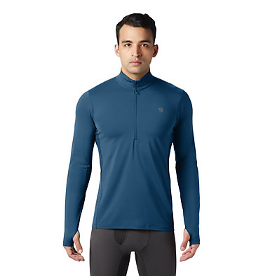 Men's Ghee™ Long Sleeve 1/2 Zip Ghee™ Long Sleeve 1/2 Zip | 305 | L, Blue Horizon, front