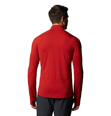 Men's Ghee™ Long Sleeve 1/2 Zip Ghee™ Long Sleeve 1/2 Zip | 305 | L, Desert Red, back