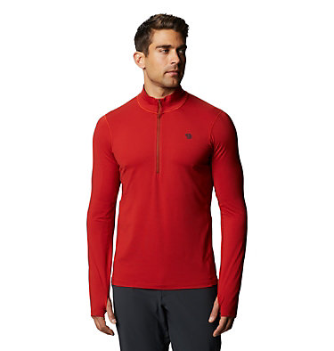 Men's Ghee™ Long Sleeve 1/2 Zip Ghee™ Long Sleeve 1/2 Zip | 305 | L, Desert Red, front