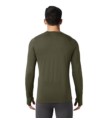Men's Ghee™ Long Sleeve Crew Ghee™ Long Sleeve Crew | 016 | L, Dark Army, back
