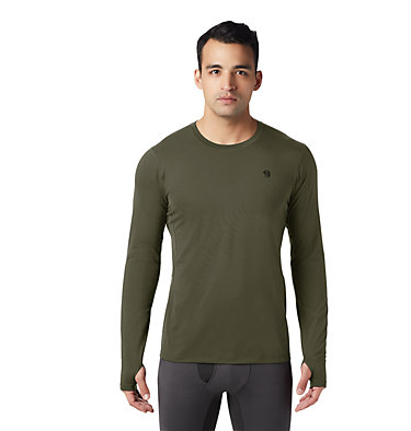 Men's Ghee™ Long Sleeve Crew Ghee™ Long Sleeve Crew | 016 | L, Dark Army, front