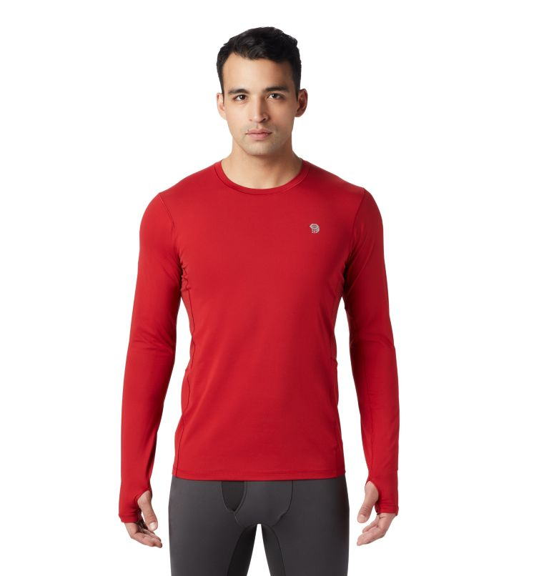 Ghee™ Long Sleeve Crew | 603 | L Men's Ghee™ Long Sleeve Crew, Dark Brick, front