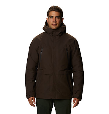 Men's Summit Shadow™ Hooded Down Jacket Summit Shadow™ Down Jacket | 209 | L, Dark Ash, front