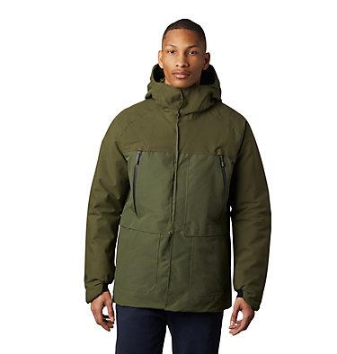 Men's Summit Shadow™ Hooded Down Jacket Summit Shadow™ Gore-Tex® Down  | 406 | XL, Dark Army, front